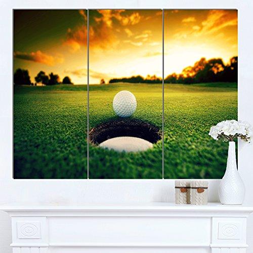 Art-design Designart MT14848-271 Wanddekoration Golfball Near Landschaft, glänzend, Metall, Grün 28'' Hx36'' Wx1'' D 3P grün