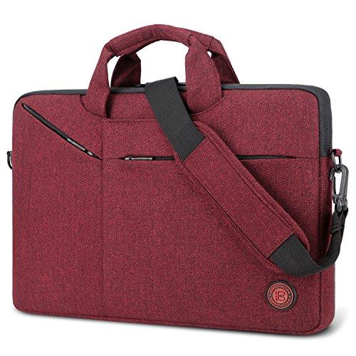 Brinch Laptop Tasche 15.6 Zoll Aktentasche Herren/Damen Leicht umhängetaschen Business Schutertasche Laptop Schutzhülle kompatibel mit Notebook Laptop für Geschäft Büro Schule,Rot - Leichte Multi-tasche