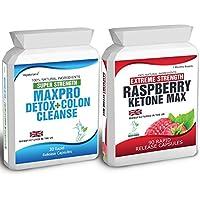 Preisvergleich für Body Smart Herbals - 90 Raspberry Ketone Plus 30 Colon Cleanse Weight Loss Slimming Diet Pills Max Raspberry Max...