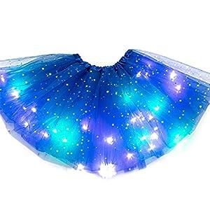 JIEHED Tutu Magic Light Princess LED Dancing Skirt, Luminous Christmas Party Stage Tulle Ballet Children Girl Mini Skirt… 13
