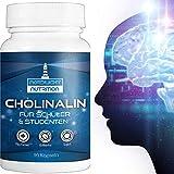 Konzentration-Tabletten⁷ für die kognitiven Funktionen mit Zink², Nootropic⁷ - CHOLINALIN Brain Booster⁷ Pillen mit B5¹ für geistige Leistung   90 Nootropika⁷-Kapseln mit B5¹ fürs Gehirn & Gedächtnis