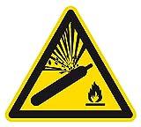 Warnzeichen - Warnung vor Gasflaschen - Aluminium - 30 x 30 cm