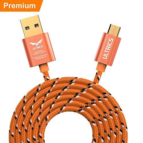 ULTRICS Micro USB Kabel 2M, Nylon Geflochten Ladekabel, Schnelllade Datenkabel