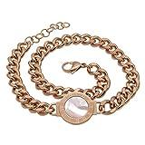 Tfsg Bracelets Coquille Bracelet en Acier Inoxydable Double Bracelet Chiffres Romains...