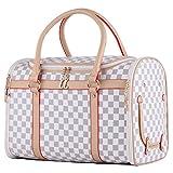 Groß Transporttasche Tragetasche für kleine Hunde und Katzen bis 5kg Hundetasche Katzentasche Tragebox Hundebox Chihuahua 43x30x23cm PC19 (weiß)
