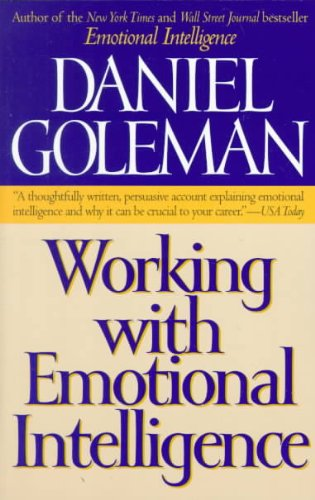 { Working with Emotional Intelligence Paperback } Goleman, Daniel P ( Author ) Jan-04-2000 Paperback