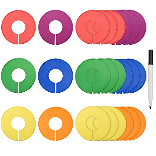 blulu-colored-blank-closet-size-dividers-round-clothing-rack-dividers-24-pieces-with-1-marker-pen