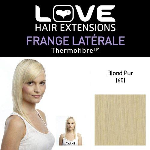 Love Hair Extensions - LHE/FRK1/QFC/CISF/60 - Thermofibre™ - Clip-In Frange Latérale - Couleur 60 - Blond Pur