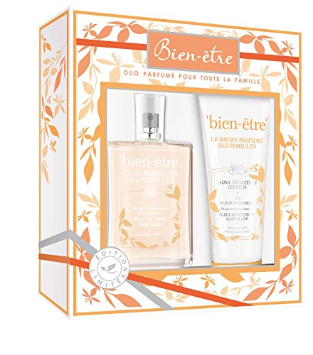 Bien-être - Caja con agua de perfume con notas de mandarina/flor de algodón/musgo blanco, 75ml y bálsamo hidratante, 100ml