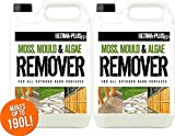 10L of Ultima-Plus XP Moss, Mould & Algae Killer - Cleaner, Remover, Concentrate - For All Outdoor Hard Surfaces Including Patio, Fencing & Decking - Most Powerful On The Market - 100% More Active Ingredient Than Other Brands