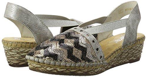 Rieker Damen 68978 Geschlossene Sandalen mit Keilabsatz - 5