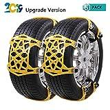 Schneeketten, Auto Schneeketten Universal Anti-Rutsch ketten für Auto SUV mit Reifen Breite 165-285mm, 6 Stück