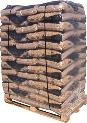 1 (eine) Palette Pellets aus dem Material Fichte/Kiefer, 65 Abgepackte 15kg in straffen Foliensäcken, für Kamin, Ofen, Herd, Grill oder Lagerfeuer,