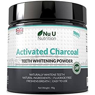 Activated Charcoal Natural Teeth Whitening Powder 180ml 90g | 50% More Premium Activated Charcoal Powder Than Other Brands | Brilliant White Teeth | 100% Natural and Non Abrasive | Spearmint Flavour