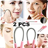 2 pcs Facial Hair Removal Spring, Epilator Tweezer Stick, DIY Face hair remover