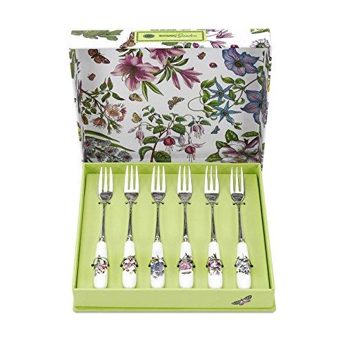 Portmeirion Botanic Garden Pastry Forks, Set of 6 Portmeirion Botanic Garden Serveware