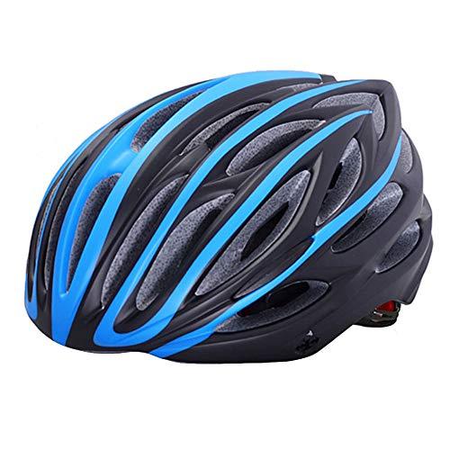 JINYIJUN Herren und Damen Fahrradhelme, Warnlicht-Helme, Mountainbike-Outdoorsport-Kappen, Radkappen, blau