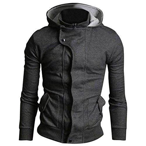 Neue Herren luxuary Designer slim fit Kapuze Sweatshirt Hoodie Kapuzenjacke top Charcoal