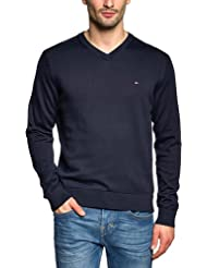 Tommy Hilfiger - Pacific - Pull - Uni - Col V - Manches longues - Homme