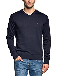 Tommy Hilfiger Herren PACIFIC V-NK CF 867802697, Gr. XL (Midnight 403)