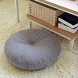 NJHKHDFDS - Cuscino Rotondo per Seduta, in Cotone e Cotone, Motivo Tatami