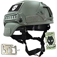MICH 2000 combate casco protector con carril lateral y montaje NVG follaje verde FG para Airsoft caza táctico Paintball