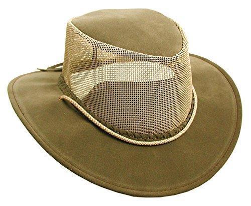 Kakadu Australia Damen Herren Sommerhut aus Mikrofaser mit Netz-Block und Kinnband
