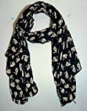 #6: ICW Women's Swan Printed Scarf( Large Size Soft Cotton (28W x 72L) inch)