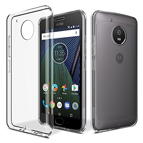 Efonebits(TM) Crystal Clear Hot Transparent Premium Soft Silicone Back Case Cover For Motorola Moto G5 Plus (2017 5th Gen)  available at amazon for Rs.99