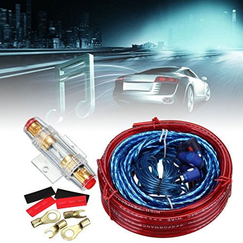 iglobalbuy 1500 Watte 10 Gauge Auto Audio amplificatore kit di cablaggio