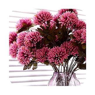 Flores Artificiales Flores Falsas Seda Rosas Artificiales Flores Artificiales Flores Dalia Tallo Faux Araña Flor de la Dalia Flores de Seda para el hogar Hotel Boda Decoración de Oficina