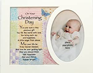 Memory Mounts Baby's Christening Gift For A Photo Frame 10 x 8 Inch Boy Or Girl