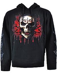 Spiral Direct Hommes 'Game Over' Sweatshirt Hood Top Noir M (107-117cms)