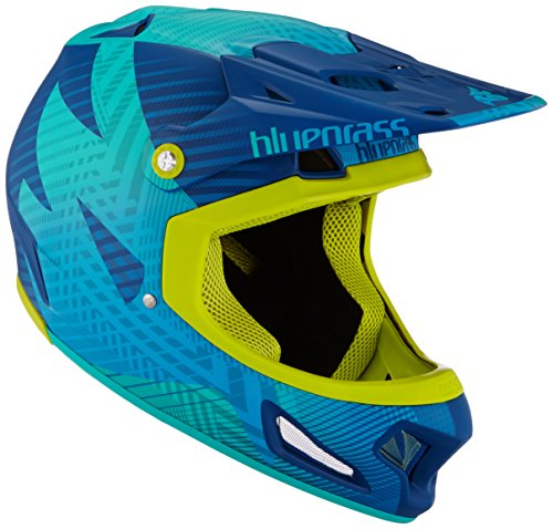 Bluegrass Brave Eagle Helm, Blue/Green, 56-58 cm