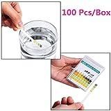 100pcs/box, von reaktiven Rolle universal PH-Streifen für Testen Körperfett, Körperwasser und pH Säure Alkali,-Hautpflege, Aquarien, Trinkwasser, mit 4Panelen Breitband-Test für höchste Präzision, Messen 0–14