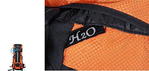 spalle 70L80L alpinismo borse per gli uomini e le donne borsa da viaggio con copertura per la pioggia ( Colore : Arancia , dimensioni : 70L+10L ) Rosso scuro