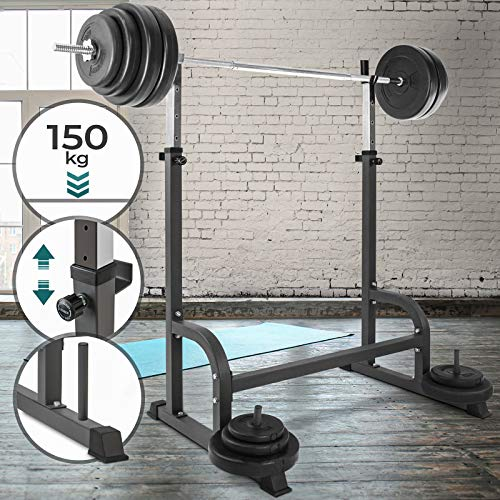Physionics - Soporte estante ajustable barra pesas