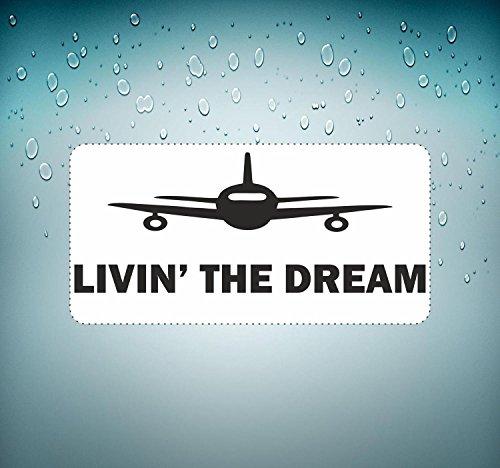 Preisvergleich Produktbild Selbstklebend Sticker MacBook Auto Flugzeug Luftfahrt Aeroport Livin The Dream
