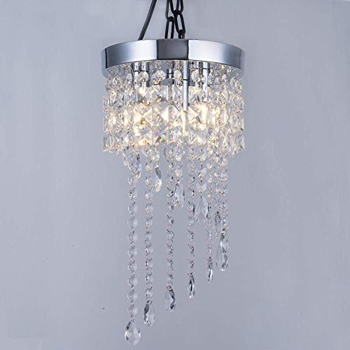 a984766a63e Chandelier Chic Ceiling Light Pendant Shade Crystal Droplet Fitting Easy Fit  (Large Metal Shade Dark Grey) ...