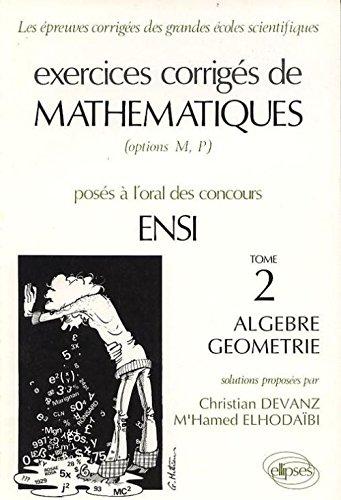 Algèbre, géométrie