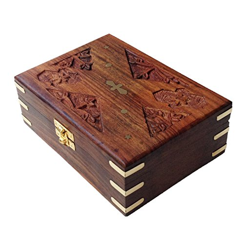 Zeitgenössische Holz-schmuck-kästen (Royal Kraft Zeitgenössisch Hand Crafted Velvet Innen Rechteck Hölzern Schmuck Boxen)