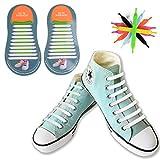 [20 Piezas] No Tie Cordones de Zapatos, Canwn Impermeables Cordones El..