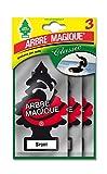 Arbre Magique 102710 Deodorante Auto, Profumo Tris Sport, Nero/Bianco/Rosso, Set di 3