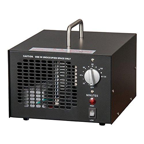 Profi Ozongenerator 3000 bis 7000mg/h- 3,5bis7g/h einstellbar Timer Ozon Generator perfekt Luftreiniger für Ihr Auto,Kücke Desinfektion, Formaldehyd Reduzierung und geruchtilgend in Badezimmer usw. (Schwarz)