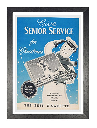 Senior Service A4 Framed Poster The Best Cigarette Picture Vintage Old Advert Artwork Classic Old Fashioned Commercial Buy Online In Aruba At Aruba Desertcart Com Productid 64938534