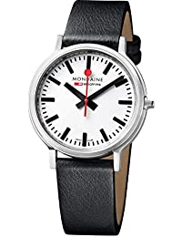 Mondaine Herren-Armbanduhr SBB Stop2go 41mm Analog Quarz A5123035816SBB