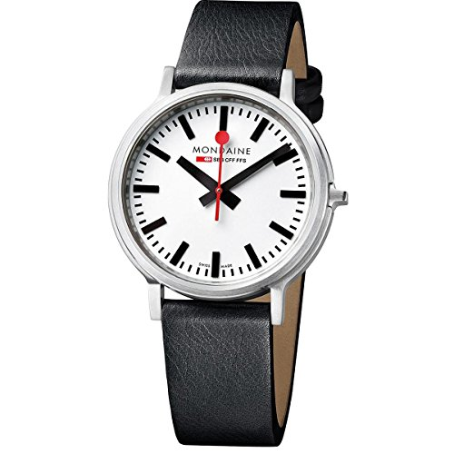 Mondaine-Mens-Quartz-Watch-with-White-Dial-Analogue-Display-and-Black-Leather-Strap-A5123035816SBB