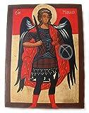 HANDBEMALT Christian Icon von St. Michael der Erzengel