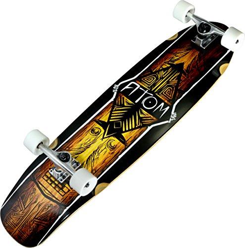 Atom Longboards Atom Kicktail Longboard - 36 , Tiki by Atom Longboards (Kicktail Atom Skateboard)