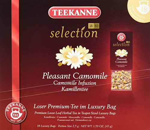 Teekanne Selection 1882 im Luxury Bag - Pleasant Camomile/Kamille - wohltuend-bekömmlich, 18 Portionen, 1er Pack (1 x 45 g) -